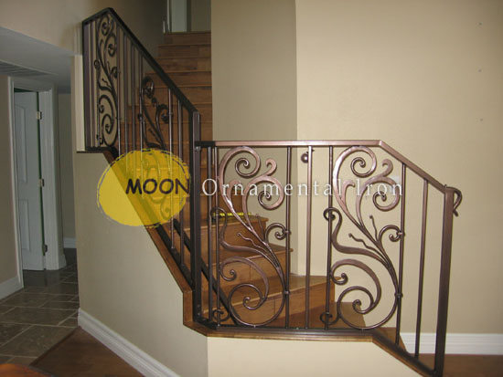 decorative wrought iron indoor stair railings decorative.htm custom wrought iron interior and exterior railings glendale by  custom wrought iron interior and