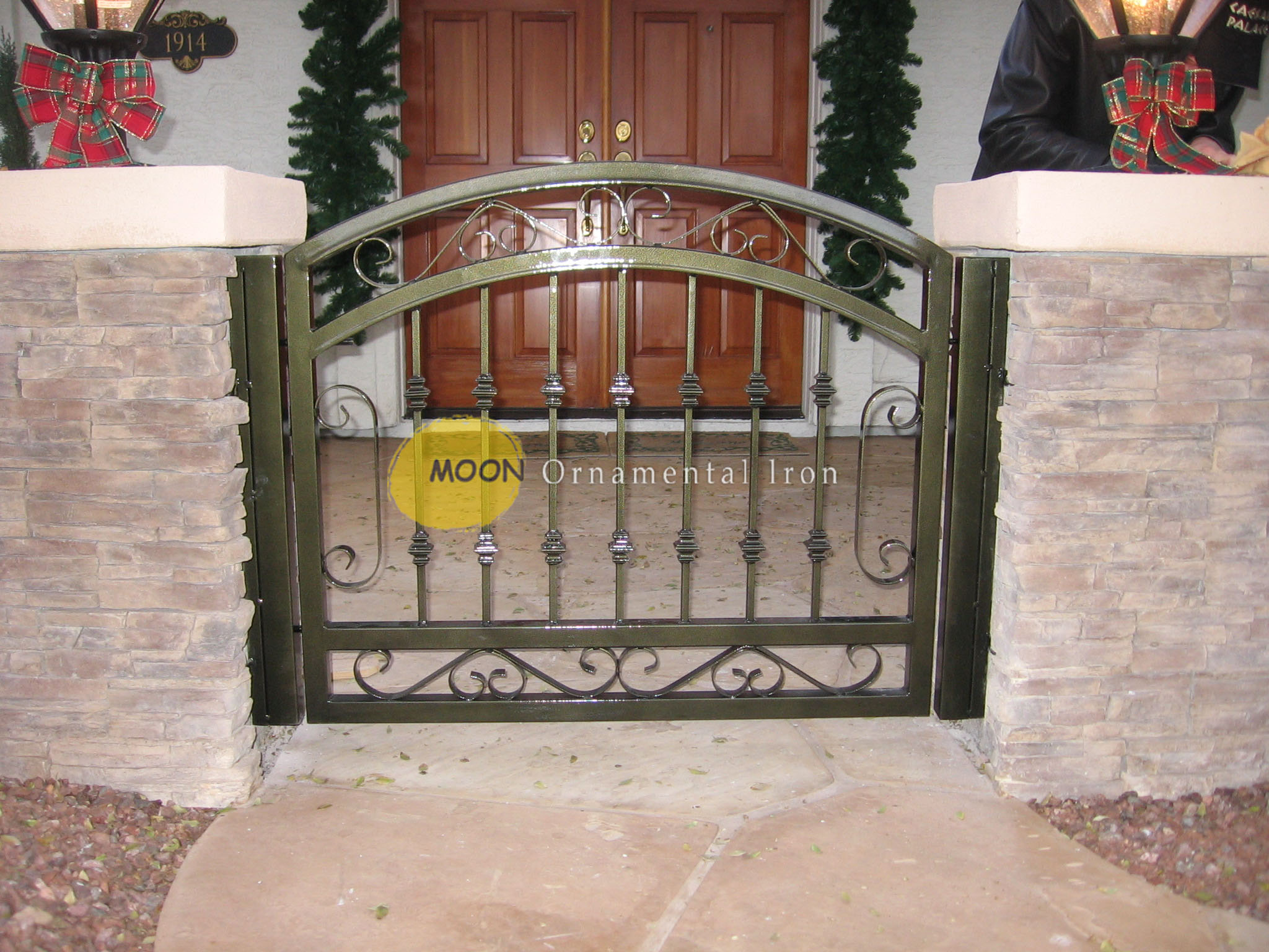 Custom Wrought Iron Courtyard Gates Glendale By Moon
